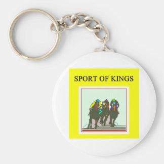 thoroughbred racing lovers keychain