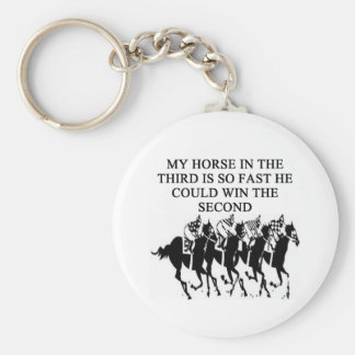 thoroughbred racing lovers keychains