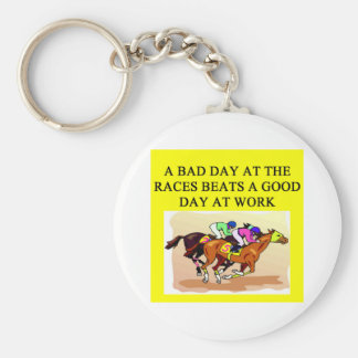 thoroughbred racing lovers key chains