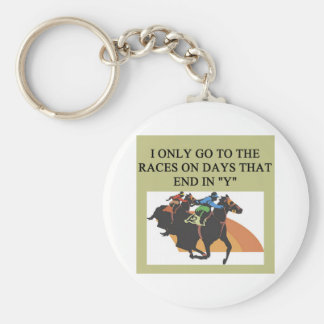 thoroughbred racing lovers key chain