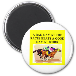 thoroughbred racing lovers magnet