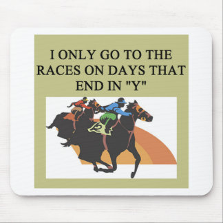 thoroughbred racing lovers mouse pad