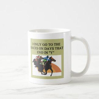 thoroughbred racing lovers coffee mugs