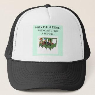 thoroughbred racing lovers trucker hat