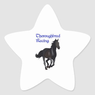 THOROUGHBRED RACING STAR STICKER