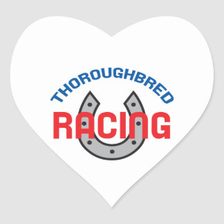 THOROUGHBRED RACING HEART STICKERS