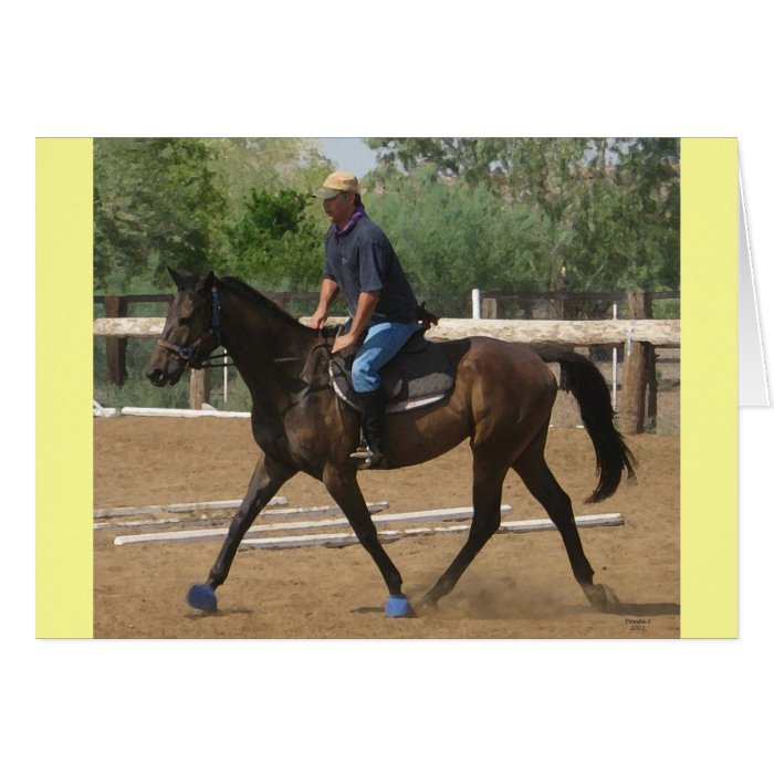 Thoroughbred Rehab - Western & Equine Blank Card