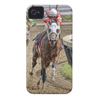 Thoroughbred Rounding Last Turn iPhone 4 Case-Mate Case