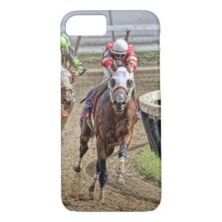 Thoroughbred Rounding Last Turn iPhone 7 Case