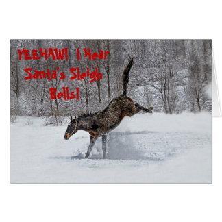 Thoroughbred Snow Joy Card