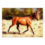 Thoroughbred Spirit Horse Art Greeting Card