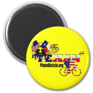 Thoroughbred Texan Cycling Fridge Magnet
