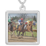 Thoroughbreds Close Race Necklace