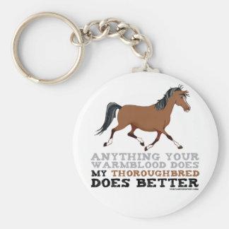 Thoroughbreds Do It Better Keychain