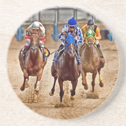 Thoroughbreds Out the starting Gate Coaster