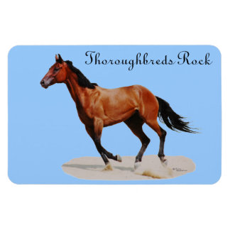 Thoroughbreds Rock Premium Magnet