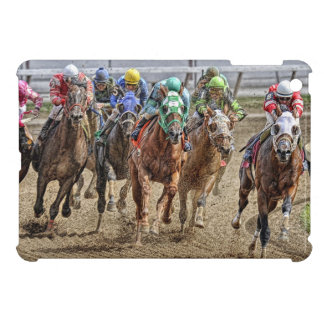Thoroughbreds Rounding Last Turn Cover For The iPad Mini