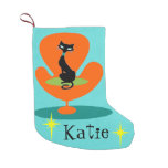 Thoroughly Modern Kitty Christmas Stocking