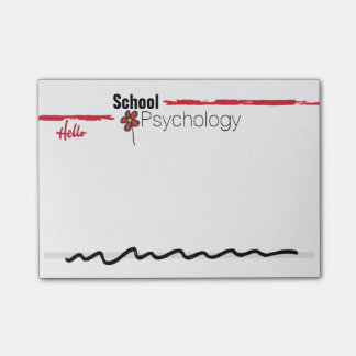 Thoroughly Modern School Psychology Post-it Notes
