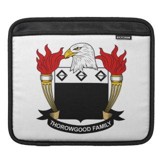 Thorowgood Family Crest iPad Sleeve