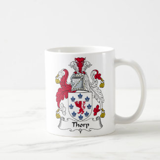 Thorp Family Crest Classic White Coffee Mug