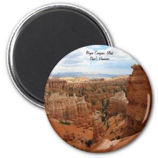 Thor's_Hammer_Bryce_Canyon_Utah, Estados Unidos Imán Redondo 5 Cm