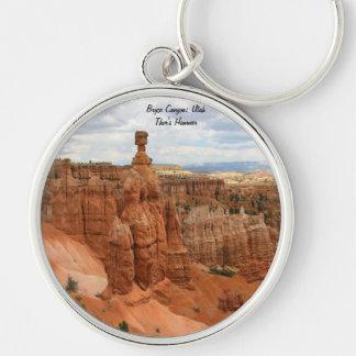 Thor's_Hammer_Bryce_Canyon_Utah, Estados Unidos Llavero Redondo Plateado