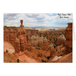 Thor's_Hammer_Bryce_Canyon_Utah, Estados Unidos Tarjeta De Felicitación