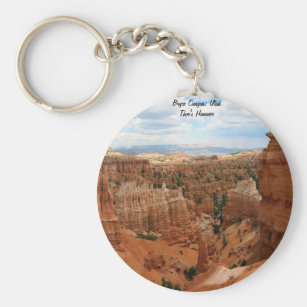 Bryce Canyon National Park Keychain Keyring Utah Plastic