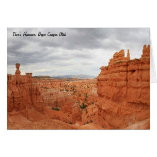 Thor's Hammer Bryce Canyon Utah, united States Stationery Note Card