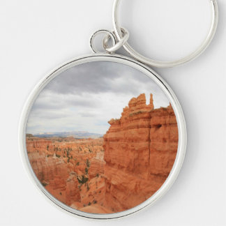 Thor's_Hammer_Bryce_Canyon_Utah, united States Silver-Colored Round Keychain