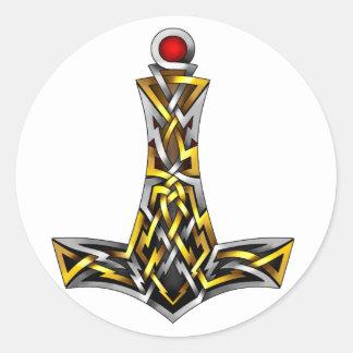 Thor's Hammer Classic Round Sticker