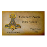 Thors Hammer gold Double-Sided Standard Business Cards (Pack Of 100)
