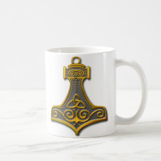 Thor's Hammer-gold Coffee Mug