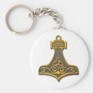 Thor's Hammer-gold Keychain