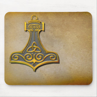 Thor's Hammer_Gold Mouse Pad
