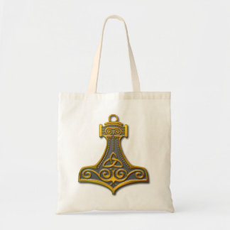 Thor's Hammer-gold Tote Bag