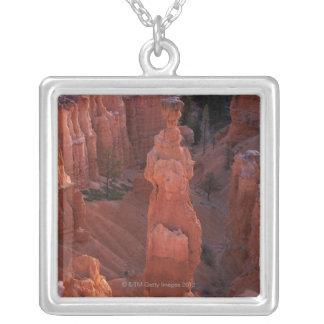 Thor's Hammer hoodoo on Navajo Trail Silver Plated Necklace