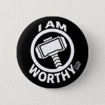 Thor's Hammer - I Am Worthy Button