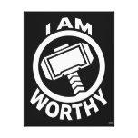 Thor's Hammer - I Am Worthy Canvas Print
