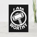 Thor's Hammer - I Am Worthy Card