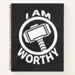 Thor's Hammer - I Am Worthy Notebook