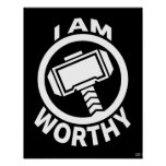 Thor's Hammer - I Am Worthy Poster