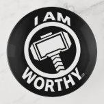 Thor's Hammer - I Am Worthy Trinket Trays