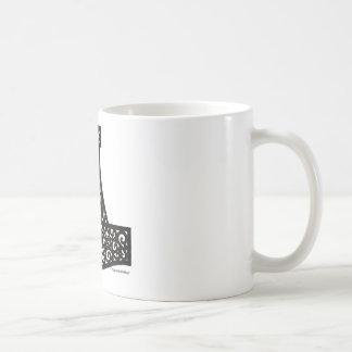 Thors Hammer in Black Coffee Mug