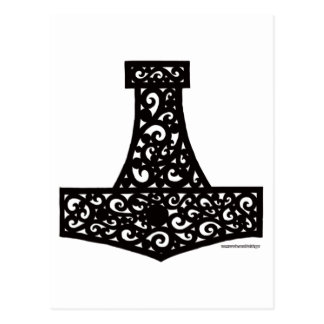 Thors Hammer in Black Postcard