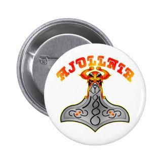 Thor's Hammer Mjollnir Pinback Button