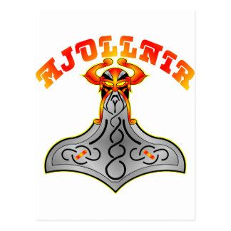 Thor's Hammer Mjollnir Postcard