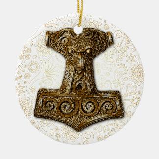 Thor's Hammer-Mjölnir in Brass - Ornament