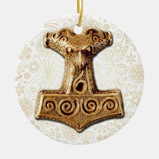 Thor's Hammer-Mjölnir in Gold - Ornament